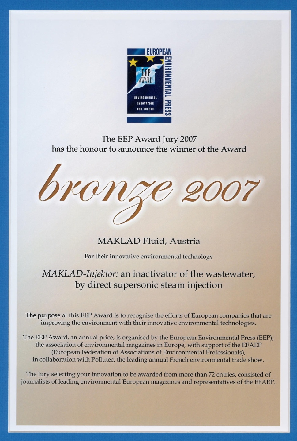 Bronze Award document